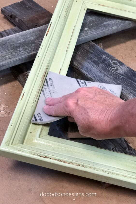easy diy picture frame tray