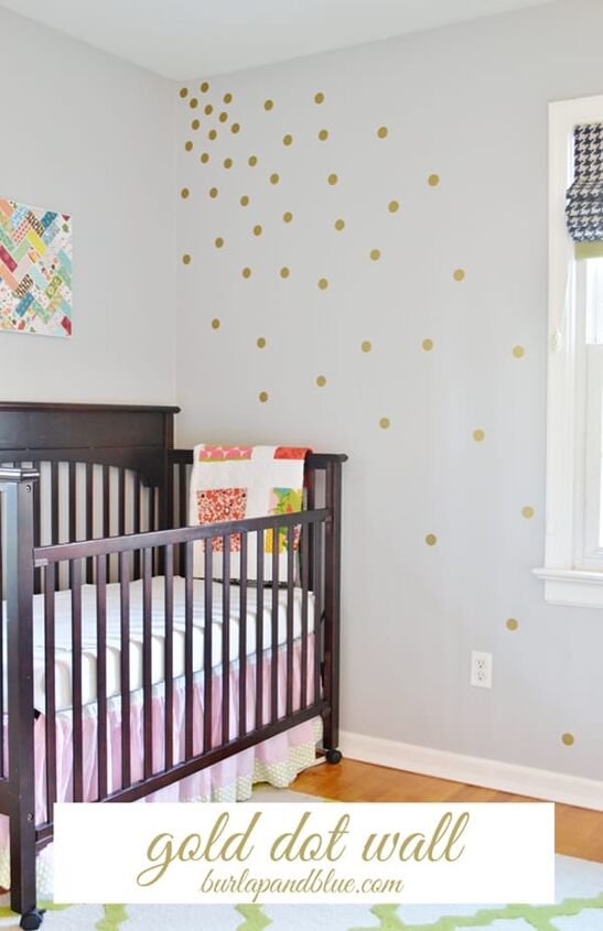 make a polka dot wall with vinyl decals