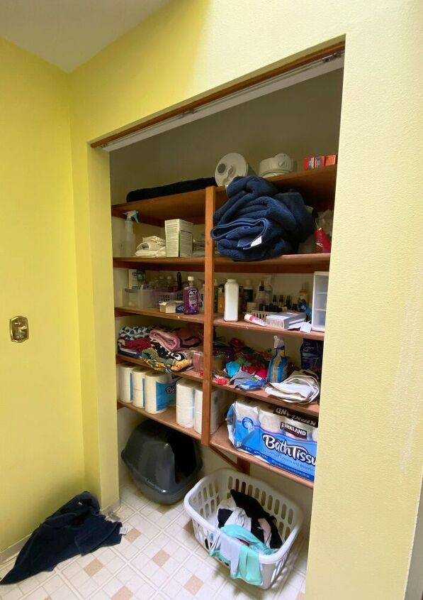 how to spruce up an old closet with paint and elbow grease