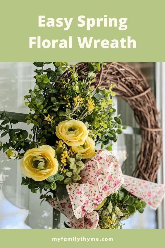 easy spring floral wreath