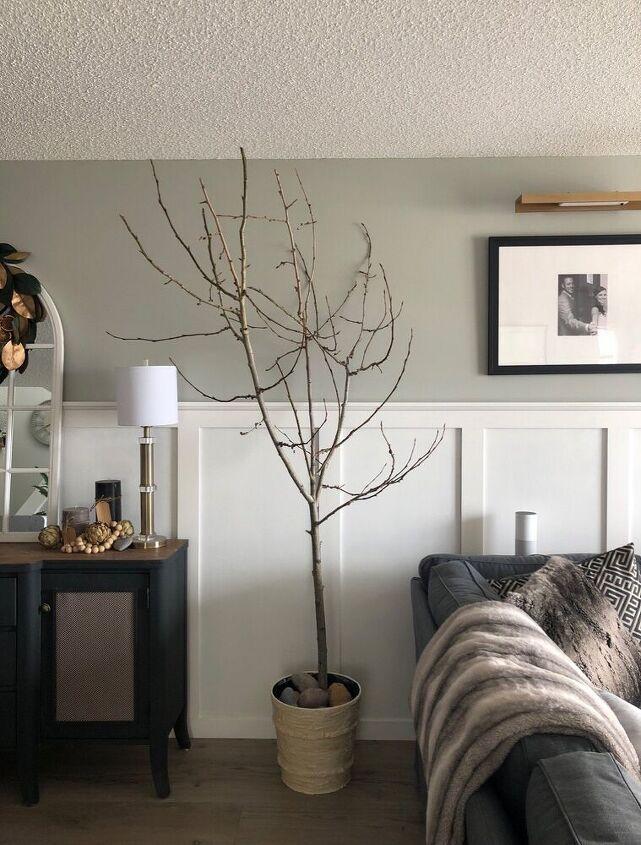 diy faux eucalyptus tree