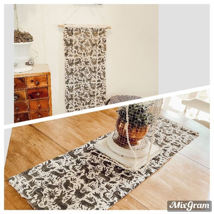 wall hanging table runner