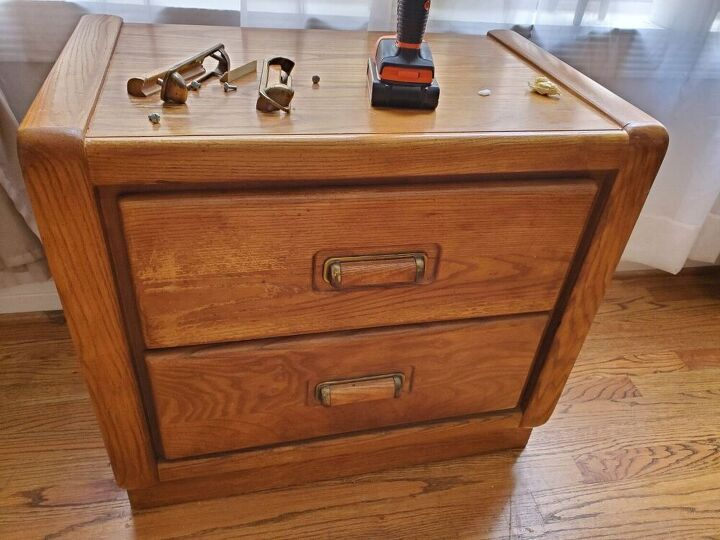 a quick nightstand flip, Before