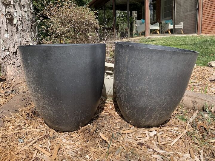 save money making large flower containers
