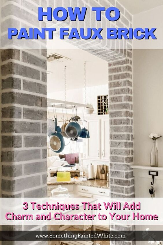painting faux brick walls with 3 beautiful different and unique method