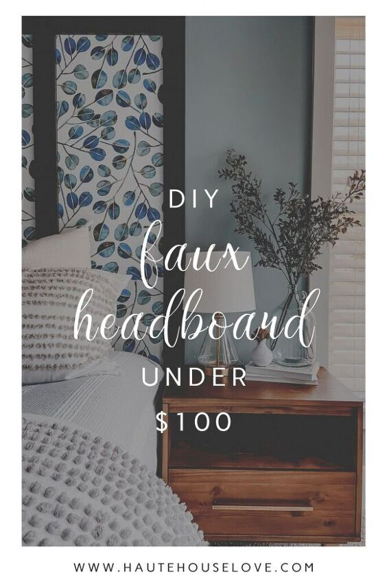how to build a budget friendly faux headboard