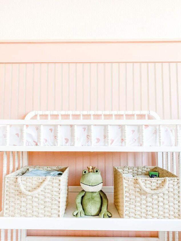 girl s nursery makeover pt 1 pink bead board