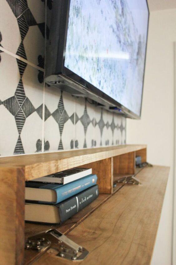 diy fireplace mantel with storage
