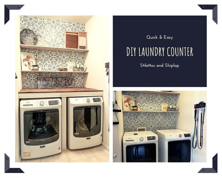 quick and easy diy laundry counter