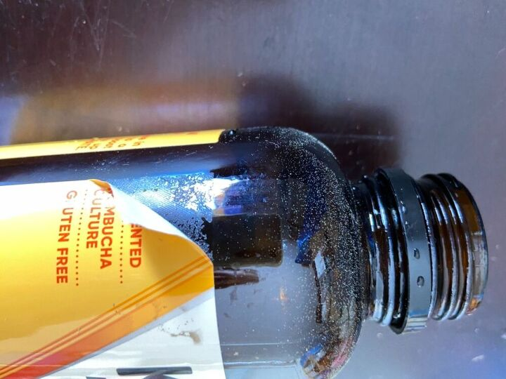 Kevita drink brown glass bottle