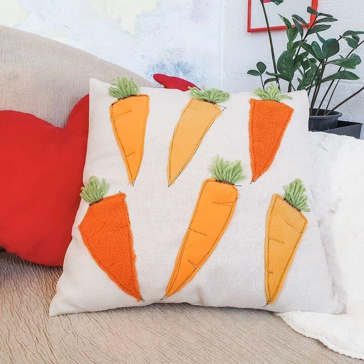 diy easter decor the carrot pillow