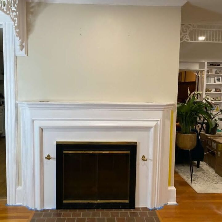 fireplace makeover and diy modern picture frame