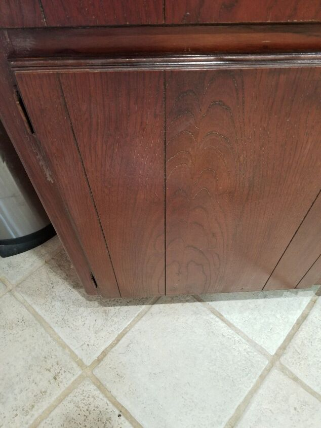 q front paneling on kitchen cabinets coming loose