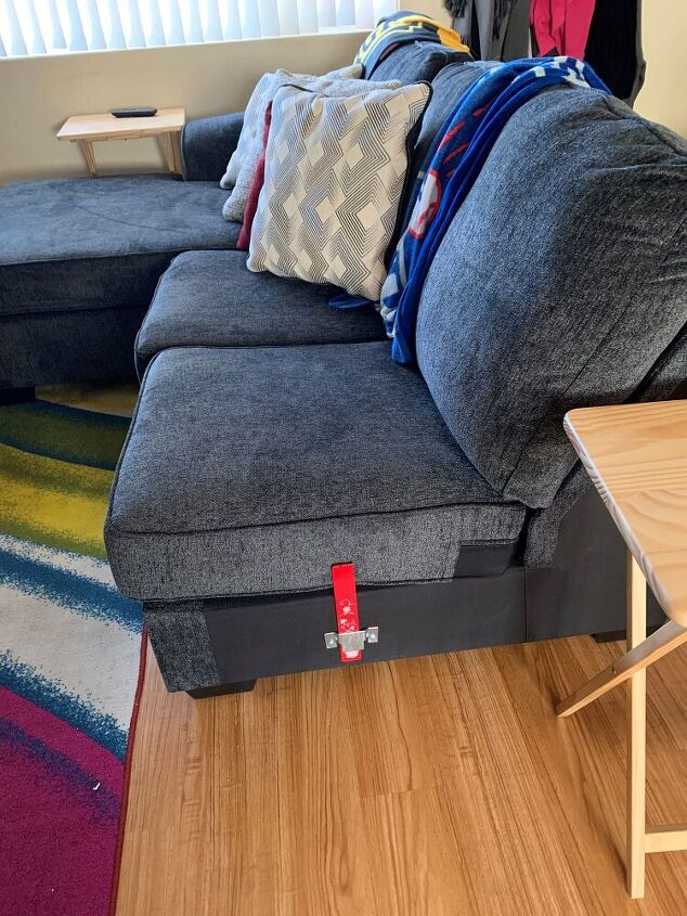 q prevent cushions from falling off sectional that i ve had to separate