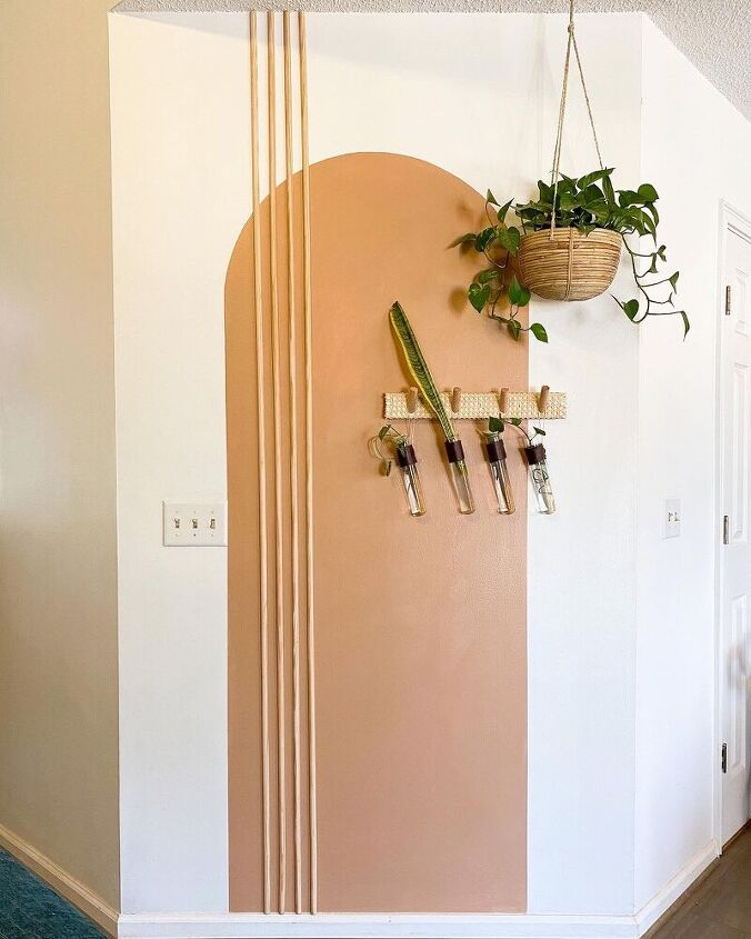 modern painted arch