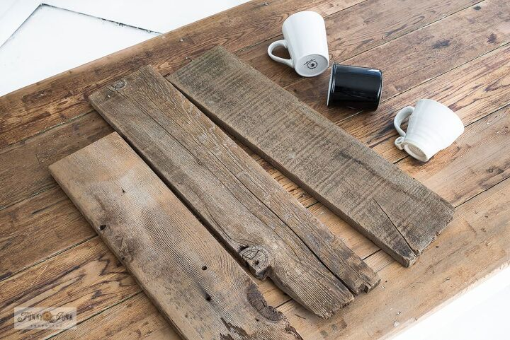 whip up the world s easiest coffee sign using 3 unmatched planks, The design