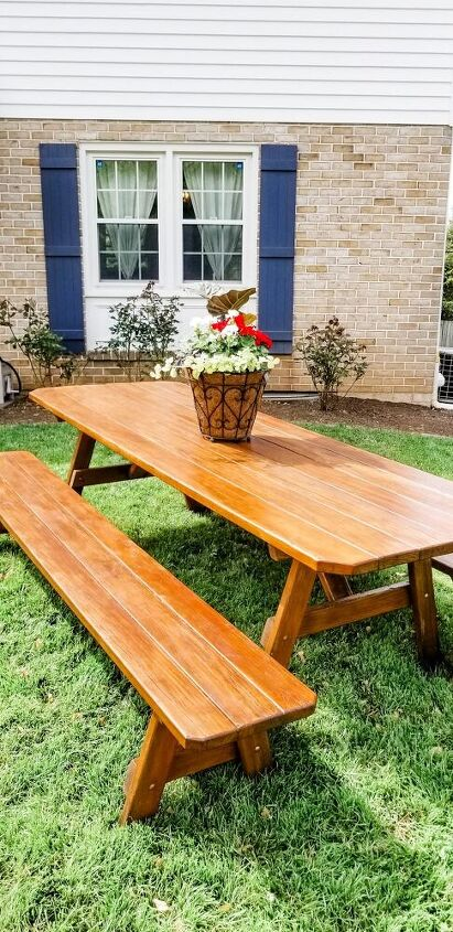 how to refinish a wooden picnic table in 4 easy steps