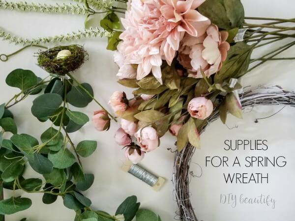 diy budget spring wreath