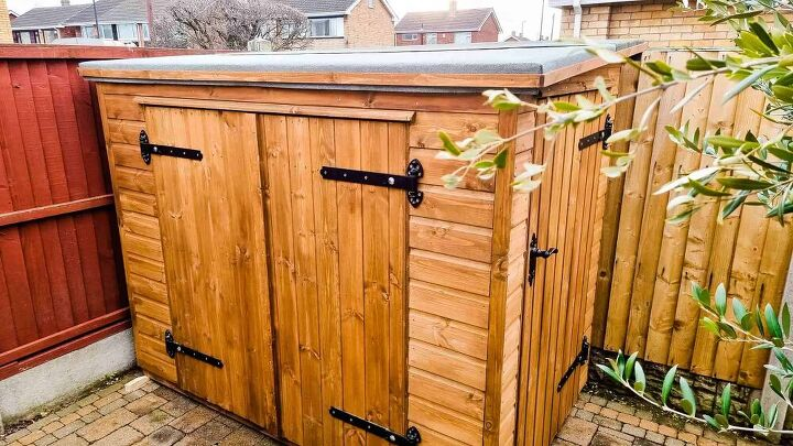 diy bike shed with free plans 7ft x 4ft