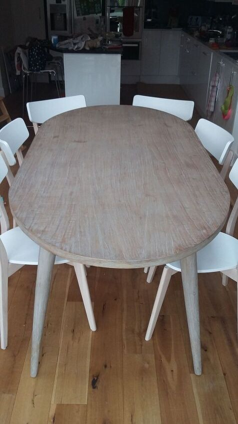 q how do i remove oil marks from oak veneer table