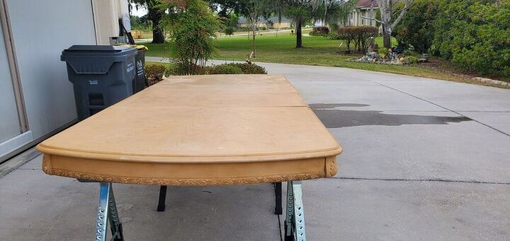 q how to refinish this table top