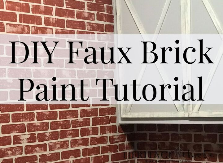 diy faux brick paint tutorial