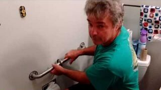 q what will i need to install a grab bar next to toilet