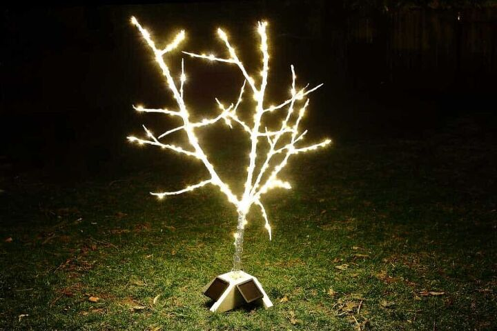 how to make a diy fairy light tree with string lights