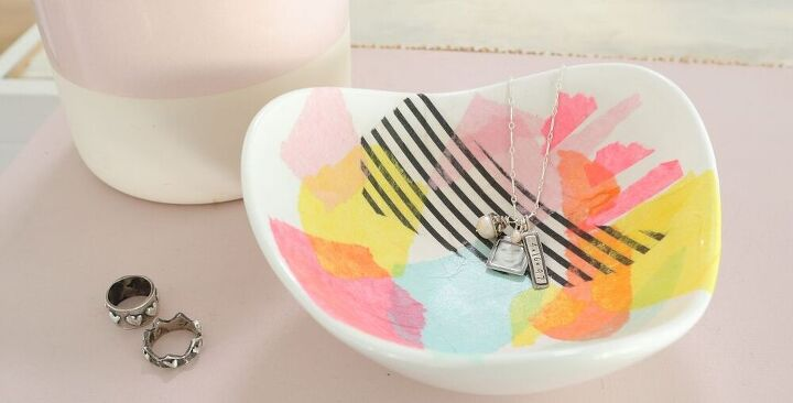 how to make a jewelry dish using tissue paper