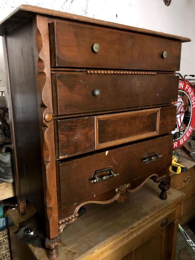 diy textured dresser