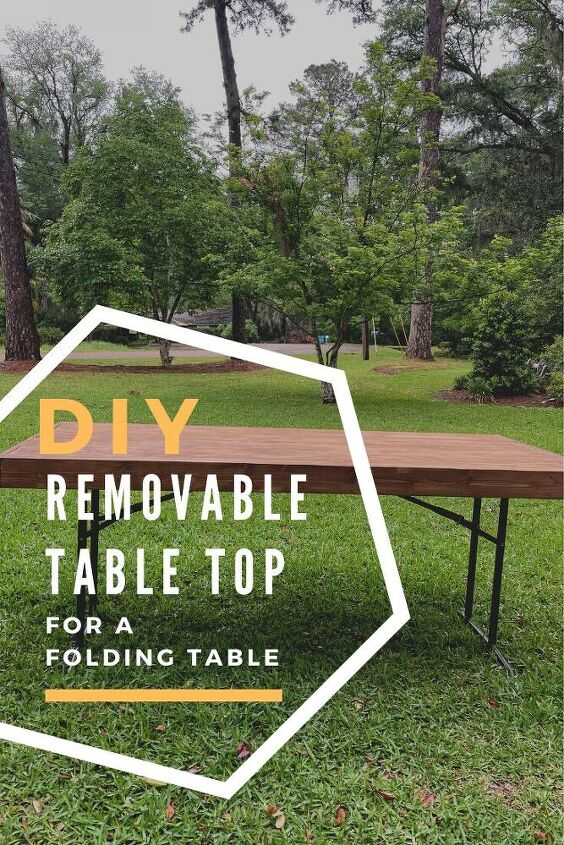 diy removable wood table top for a folding table