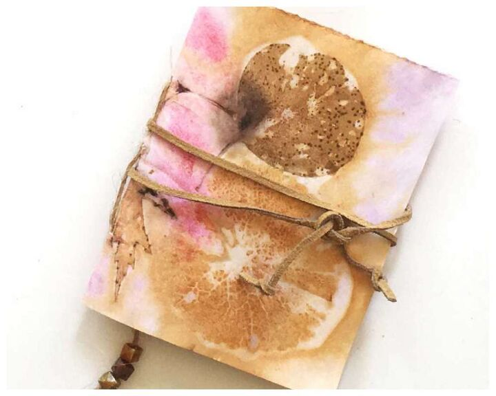 how to make a journal with eco dyed papers what to do with your eco p