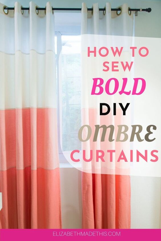 how to make diy ombre curtains and use all your pretty denim