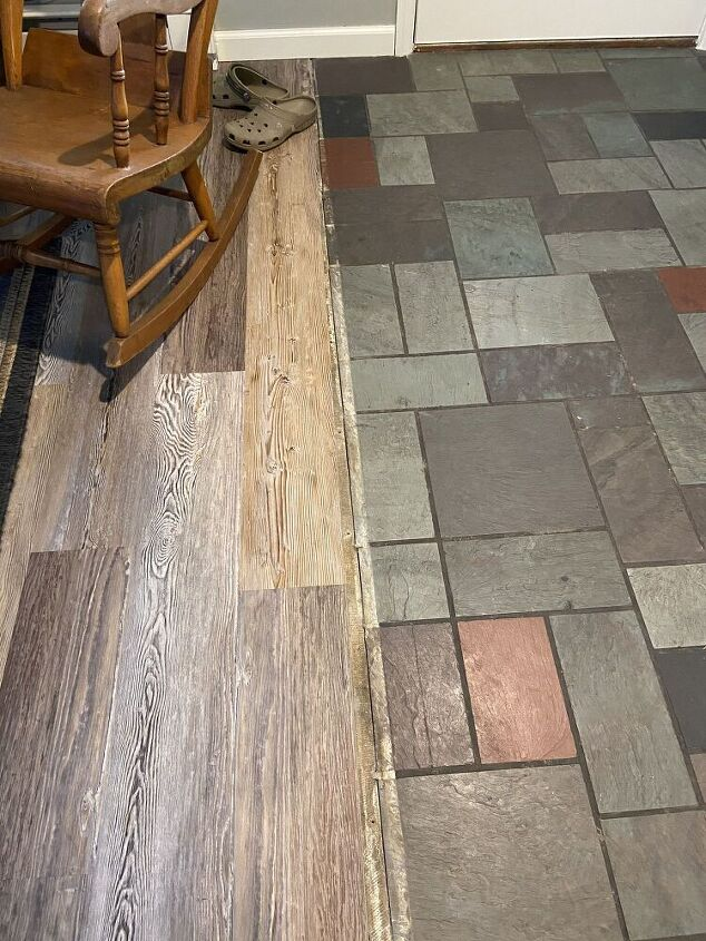 q how do i pick a tile floor to match a wood floor in my family room