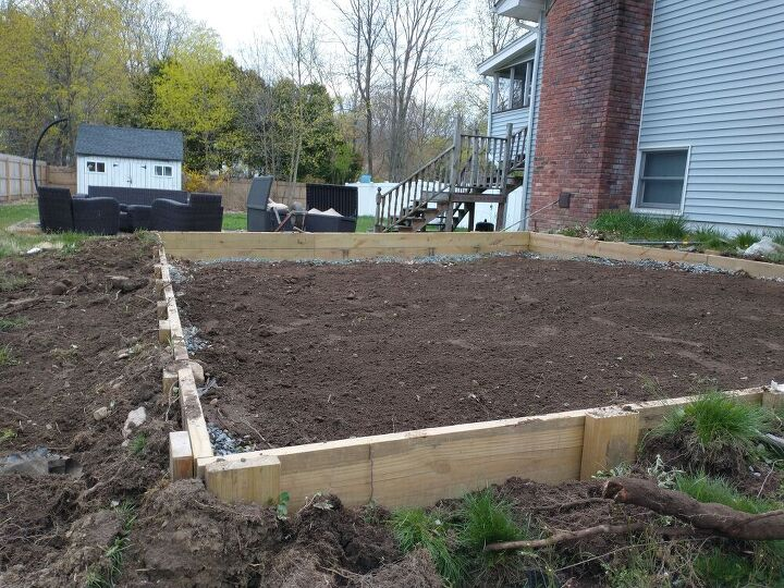 q how to backfill a patio
