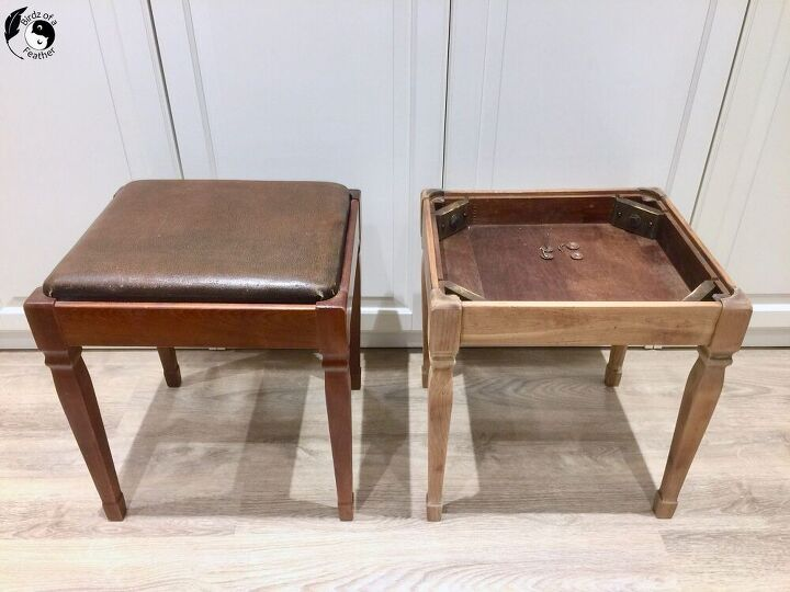 sewing stool makeover