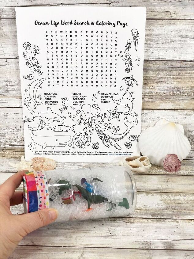 easy recycled sensory bottle with a free printable