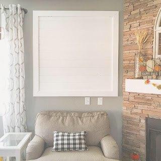 framed shiplap gallery wall