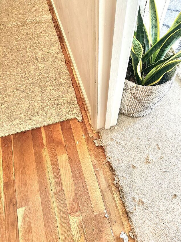 how to remove carpet on top of hardwood floors