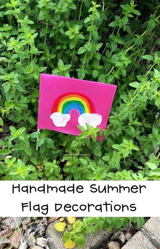 handmade summer flag decorations