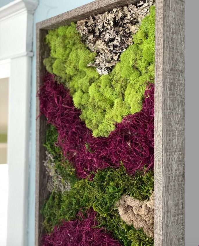 moss art diy textured wall decor in less than a hour, A lovely way to bring in a touch of nature