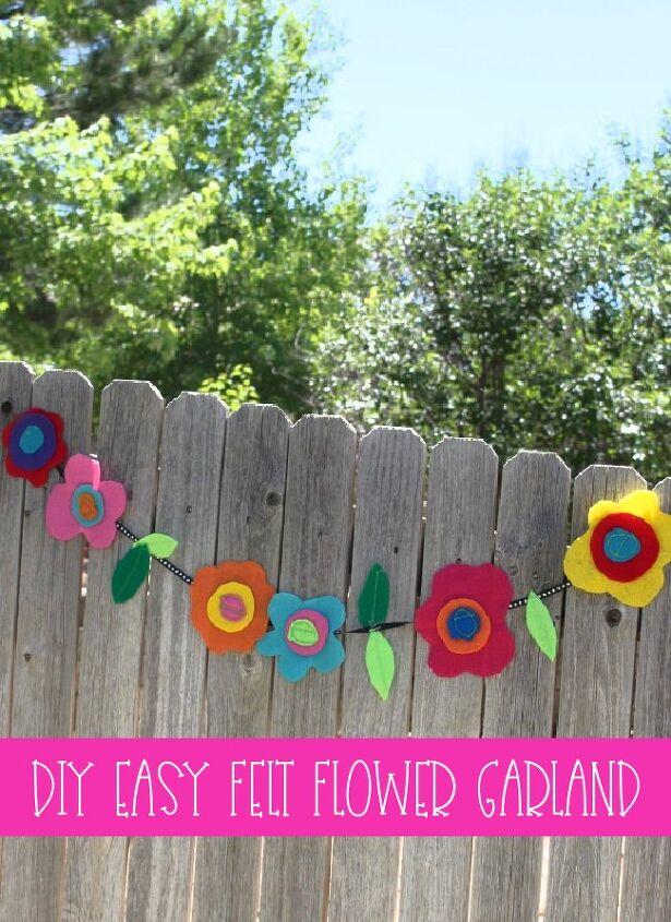 easy felt flower garland