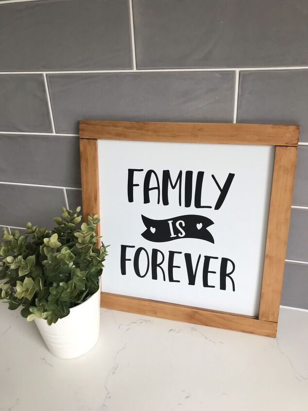 simple but meaningful farmhouse sign
