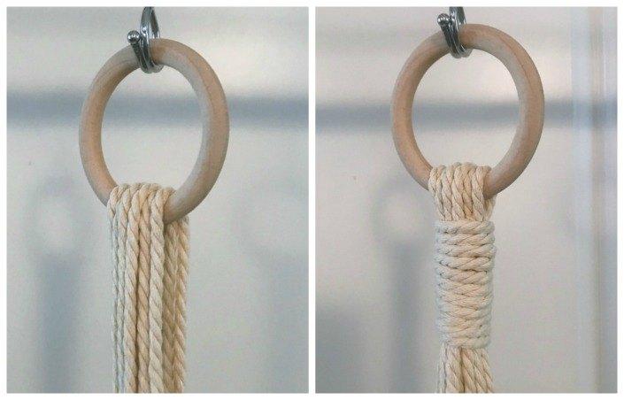 macram plant hanger with beads