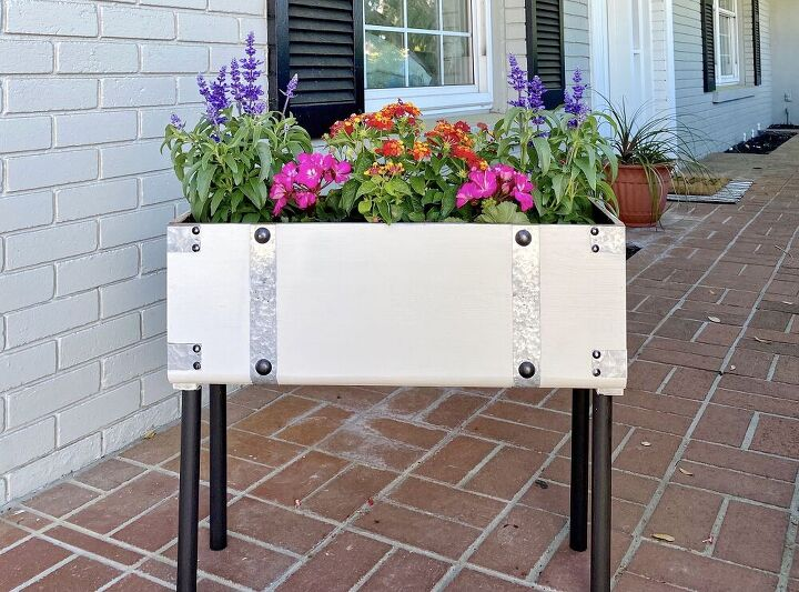 old chest turned flower box