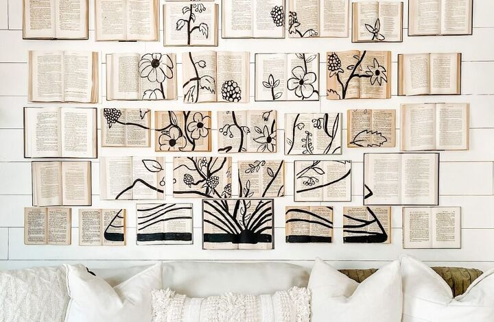 make a big impact on a budget painted book wall