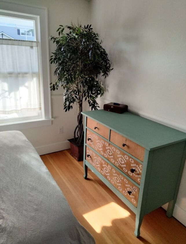 boho stenciled dresser