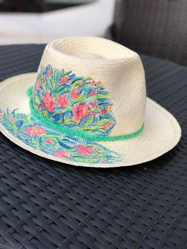 q can i use oil based paint to paint a design on a straw hat how seal