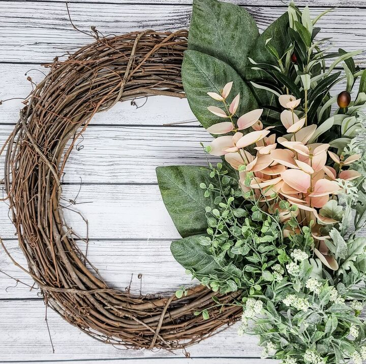 how to create a magnolia inspired wreath, Choose Your Greenery and Filler