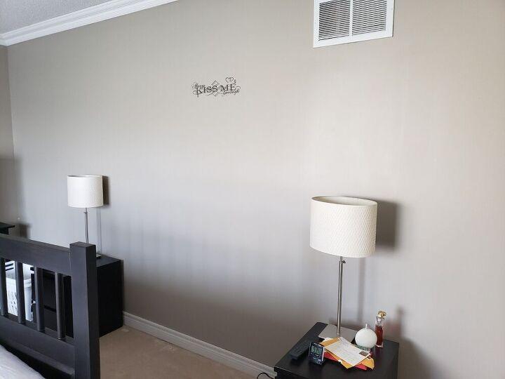 headboard accent wall